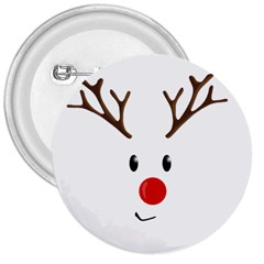 Cute Reindeer  3  Buttons by Valentinaart