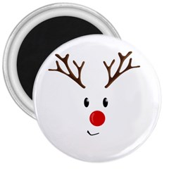 Cute Reindeer  3  Magnets by Valentinaart