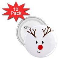 Cute Reindeer  1 75  Buttons (10 Pack) by Valentinaart