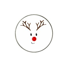 Cute Reindeer  Hat Clip Ball Marker by Valentinaart