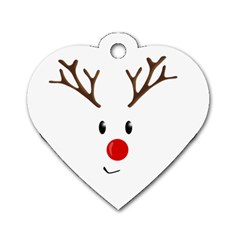 Cute Reindeer  Dog Tag Heart (one Side) by Valentinaart