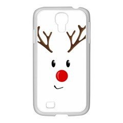 Cute Reindeer  Samsung Galaxy S4 I9500/ I9505 Case (white) by Valentinaart