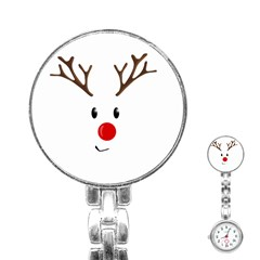 Cute Reindeer  Stainless Steel Nurses Watch by Valentinaart