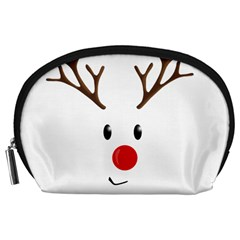 Cute Reindeer  Accessory Pouches (large)  by Valentinaart