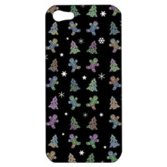 Ginger Cookies Christmas Pattern Apple Iphone 5 Hardshell Case by Valentinaart