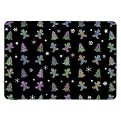Ginger Cookies Christmas Pattern Samsung Galaxy Tab 8 9  P7300 Flip Case by Valentinaart