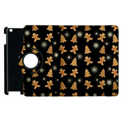 Ginger Cookies Christmas Pattern Apple Ipad 3/4 Flip 360 Case by Valentinaart