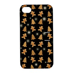 Ginger Cookies Christmas Pattern Apple Iphone 4/4s Hardshell Case With Stand by Valentinaart
