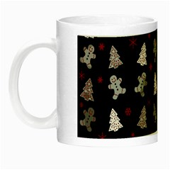 Ginger Cookies Christmas Pattern Night Luminous Mugs by Valentinaart