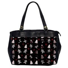 Ginger Cookies Christmas Pattern Office Handbags (2 Sides)  by Valentinaart