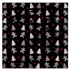 Ginger Cookies Christmas Pattern Large Satin Scarf (square) by Valentinaart