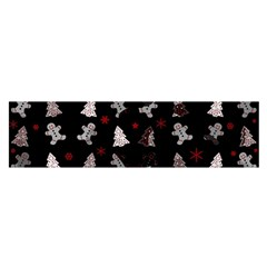Ginger Cookies Christmas Pattern Satin Scarf (oblong) by Valentinaart