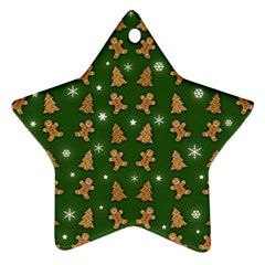 Ginger Cookies Christmas Pattern Star Ornament (two Sides) by Valentinaart