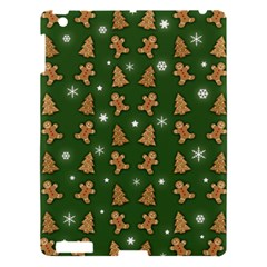 Ginger Cookies Christmas Pattern Apple Ipad 3/4 Hardshell Case by Valentinaart