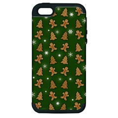 Ginger Cookies Christmas Pattern Apple Iphone 5 Hardshell Case (pc+silicone) by Valentinaart