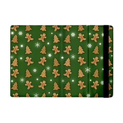 Ginger Cookies Christmas Pattern Apple Ipad Mini Flip Case by Valentinaart