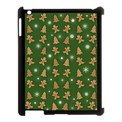 Ginger Cookies Christmas Pattern Apple Ipad 3/4 Case (black) by Valentinaart