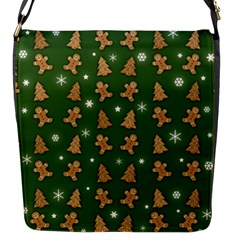 Ginger Cookies Christmas Pattern Flap Messenger Bag (s) by Valentinaart