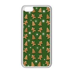 Ginger Cookies Christmas Pattern Apple Iphone 5c Seamless Case (white) by Valentinaart