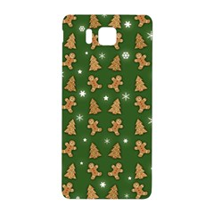 Ginger Cookies Christmas Pattern Samsung Galaxy Alpha Hardshell Back Case by Valentinaart