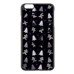 Ginger Cookies Christmas Pattern Apple Iphone 6 Plus/6s Plus Black Enamel Case by Valentinaart