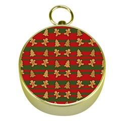 Ginger Cookies Christmas Pattern Gold Compasses by Valentinaart