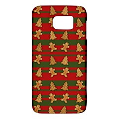 Ginger Cookies Christmas Pattern Galaxy S6 by Valentinaart