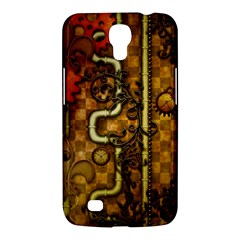 Noble Steampunk Design, Clocks And Gears With Floral Elements Samsung Galaxy Mega 6 3  I9200 Hardshell Case by FantasyWorld7