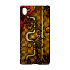 Noble Steampunk Design, Clocks And Gears With Floral Elements Sony Xperia Z3+ by FantasyWorld7