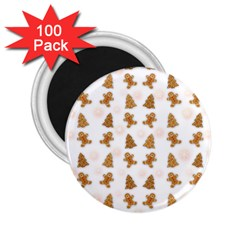 Ginger Cookies Christmas Pattern 2 25  Magnets (100 Pack)
