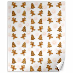 Ginger Cookies Christmas Pattern Canvas 11  X 14   by Valentinaart