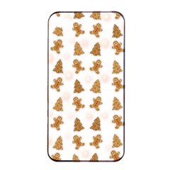 Ginger Cookies Christmas Pattern Apple Iphone 4/4s Seamless Case (black) by Valentinaart