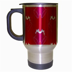 Christmas Red Pattern Reasons Travel Mug (silver Gray) by Onesevenart
