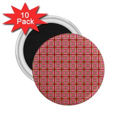 Christmas Paper Wrapping Paper 2 25  Magnets (10 Pack)  by Onesevenart