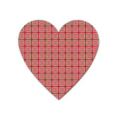 Christmas Paper Wrapping Paper Heart Magnet by Onesevenart