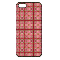Christmas Paper Wrapping Paper Apple Iphone 5 Seamless Case (black) by Onesevenart