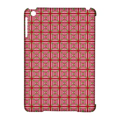 Christmas Paper Wrapping Paper Apple Ipad Mini Hardshell Case (compatible With Smart Cover) by Onesevenart