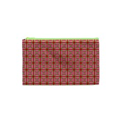 Christmas Paper Wrapping Paper Cosmetic Bag (xs) by Onesevenart