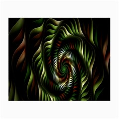 Fractal Christmas Colors Christmas Small Glasses Cloth (2 Side) by Onesevenart