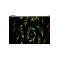 Fractal Christmas Colors Christmas Cosmetic Bag (medium)  by Onesevenart