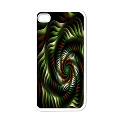 Fractal Christmas Colors Christmas Apple Iphone 4 Case (white) by Onesevenart