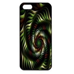 Fractal Christmas Colors Christmas Apple Iphone 5 Seamless Case (black) by Onesevenart