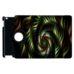 Fractal Christmas Colors Christmas Apple Ipad 3/4 Flip 360 Case by Onesevenart