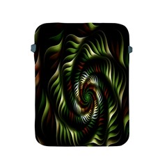 Fractal Christmas Colors Christmas Apple Ipad 2/3/4 Protective Soft Cases by Onesevenart