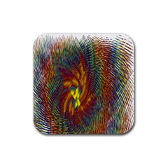 Fire New Year S Eve Spark Sparkler Rubber Square Coaster (4 Pack)  by Onesevenart