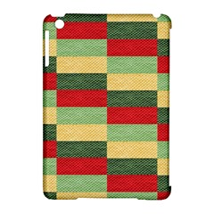 Fabric Coarse Texture Rough Red Apple Ipad Mini Hardshell Case (compatible With Smart Cover) by Onesevenart