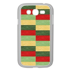 Fabric Coarse Texture Rough Red Samsung Galaxy Grand Duos I9082 Case (white) by Onesevenart