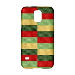 Fabric Coarse Texture Rough Red Samsung Galaxy S5 Hardshell Case  by Onesevenart