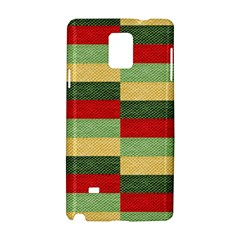 Fabric Coarse Texture Rough Red Samsung Galaxy Note 4 Hardshell Case by Onesevenart