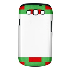 Fabric Christmas Red White Green Samsung Galaxy S Iii Classic Hardshell Case (pc+silicone) by Onesevenart